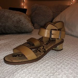 Sam Edelman Leather Mini Heels